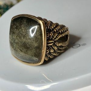 Studio Barse Brown Stone w/ Bronze Wings Ring